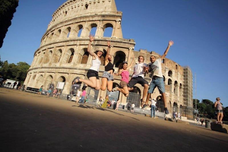 Návštěva Colosea po projektu Erasmus Plus v Itálii