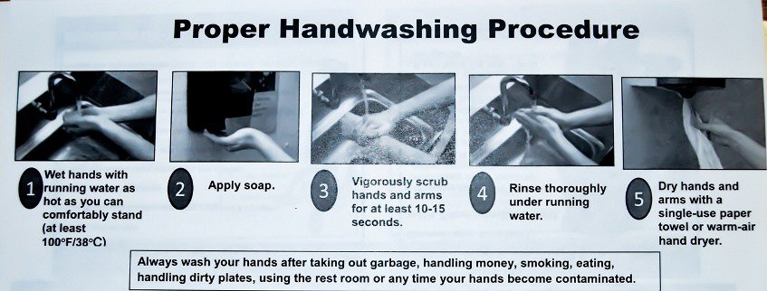 Handwashing manual - we were surprised to see an obvious thing like this, XXL America