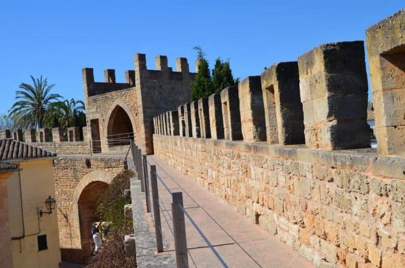 You can walk on City Walls of Alcúdia, Mallorca