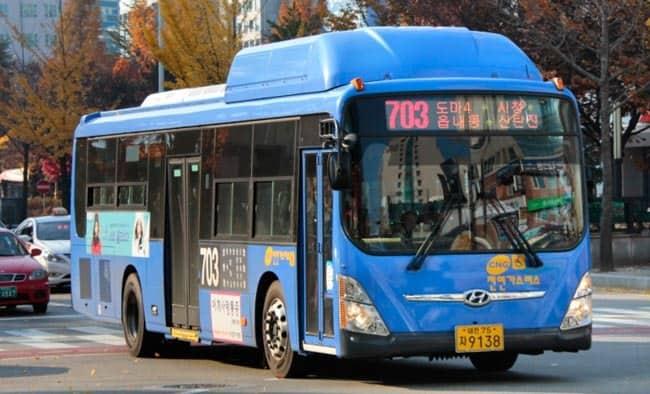 Autobus Daejeon Jižní Korea