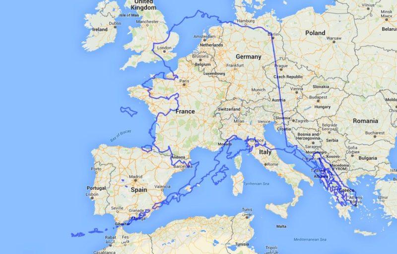 Porovnání velikosti Aljašky vůči Evropě