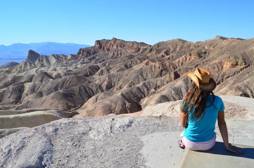 One of many viewpoints in Death Valley