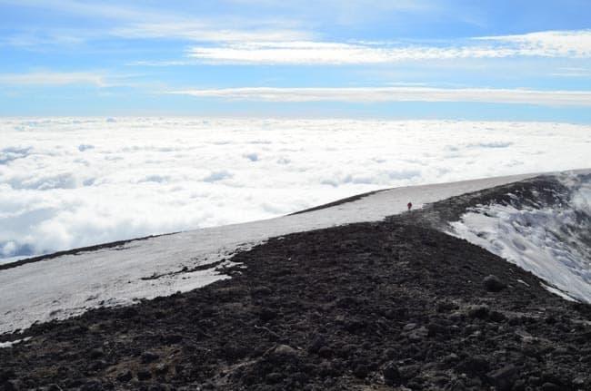 Sopka Etna - nebe