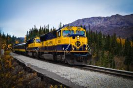 Alaska Railroad Train ride from Denali to Anchorage.