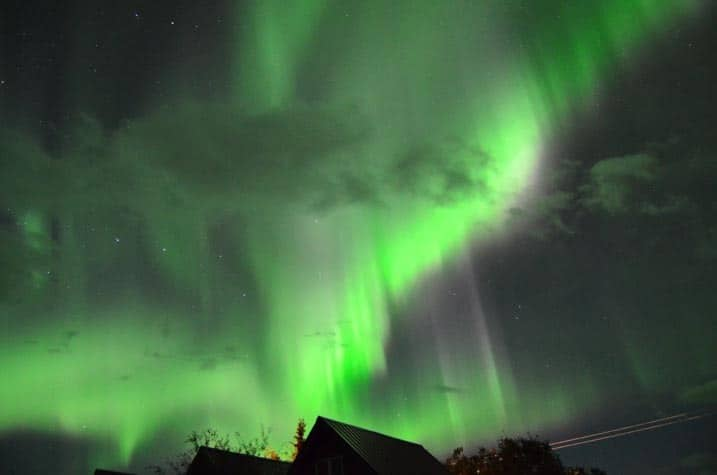 Amazing Northern lights show in Healy, Alaska