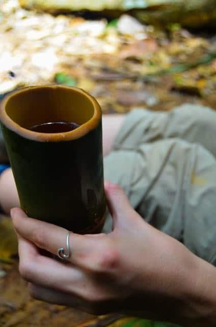 Bambusový hrneček kmene Batek