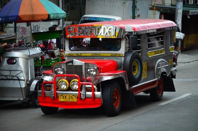 Jeepney - typical public transportation, Luzon, Philippines