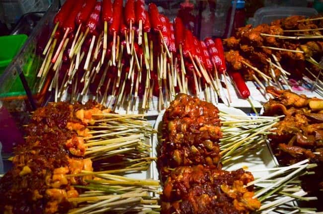Street food on every corner of the city, Luzon, Philippines