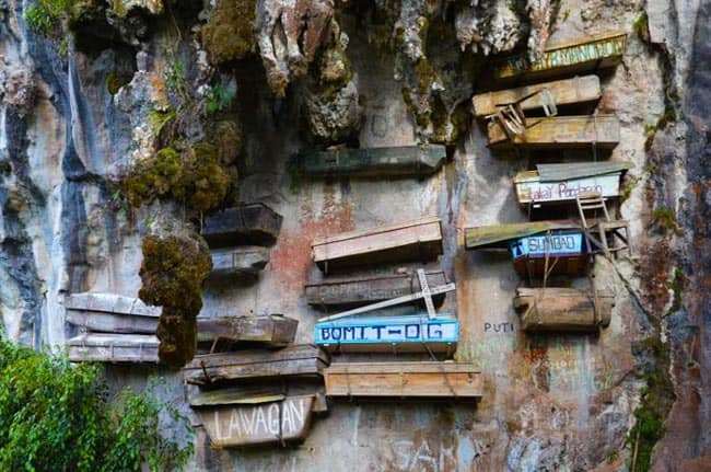 Hanging Coffins - Tourist Spots in Sagada