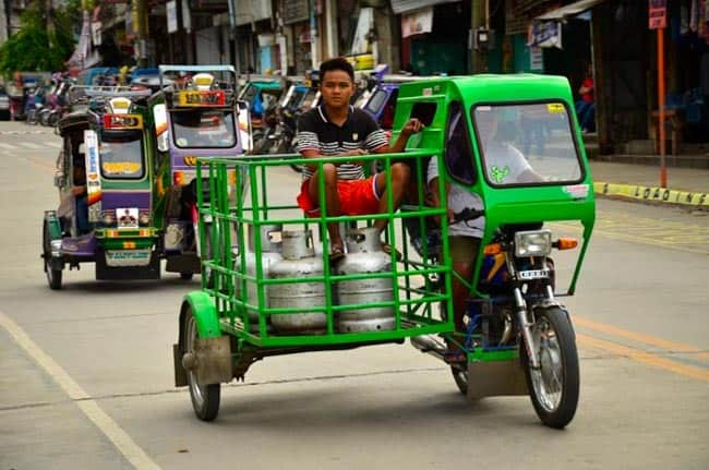 Tricycle - everyone has it!, Luzon, Philippines