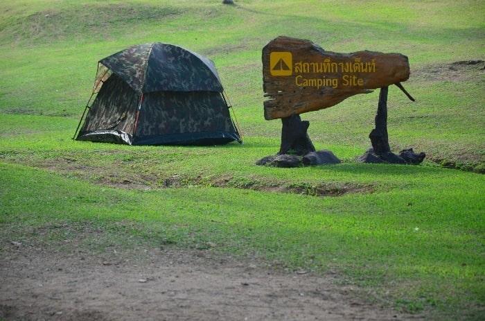 Výborně udržované tábořiště národního parku Ang Thong