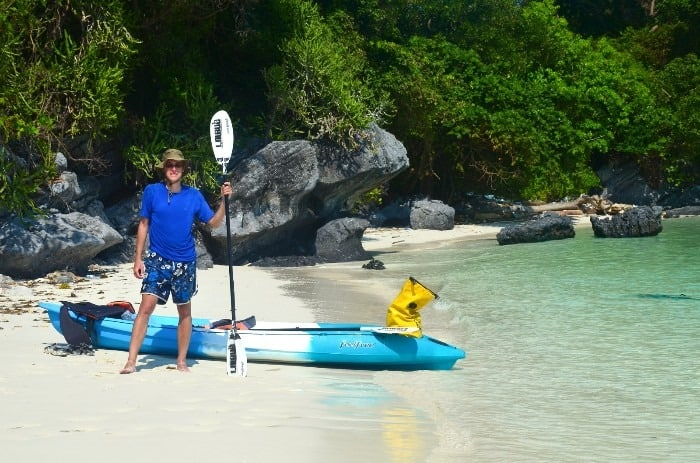 Wherever you paddle to, there is nearly 100% guarantee that you will have a beach just for yourself. DIY kayak tour.