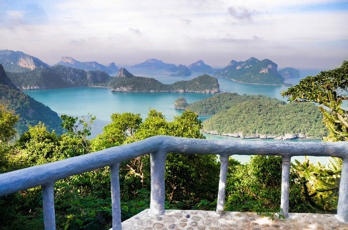 View to the 42 islands of  Mu Ko Ang Thong National Marine Park