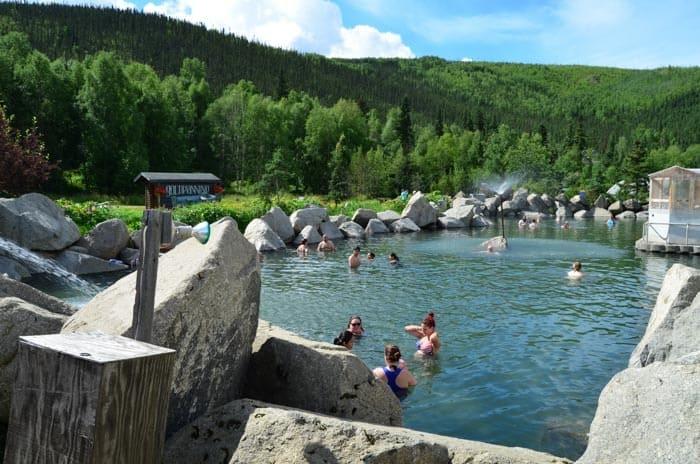 Chena Hot Springs, červenec