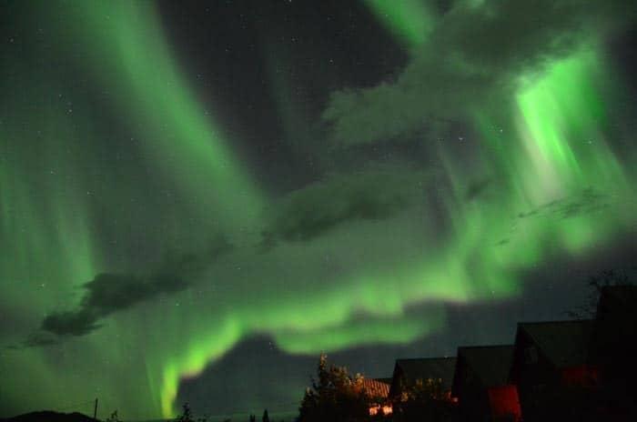 Polární záře, latinsky Aurora Borealis; Healy