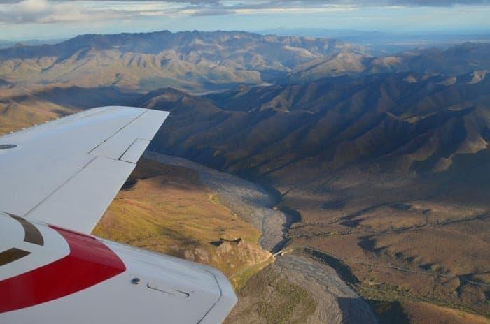 Letecký výlet na národním parkem Denali