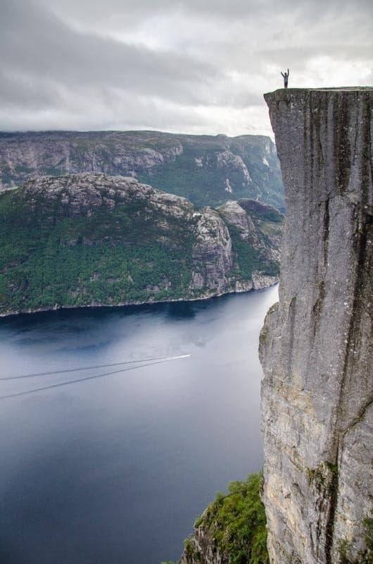 Famous Pulpit Rock - Preikestolen, Norway