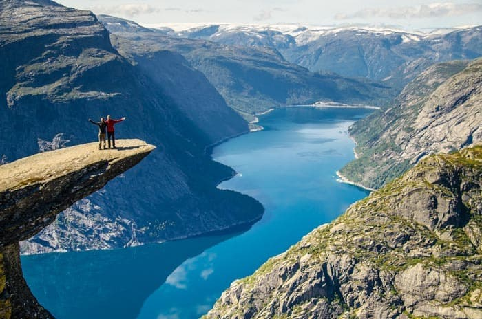 Who wouldn't want to have a picture on the famous troll's tongue when traveling Norway?