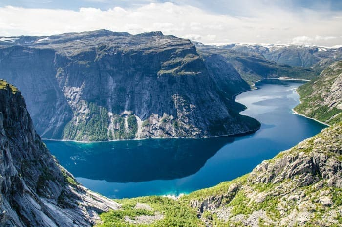 A view of the dam from the famous Trolltunga trail