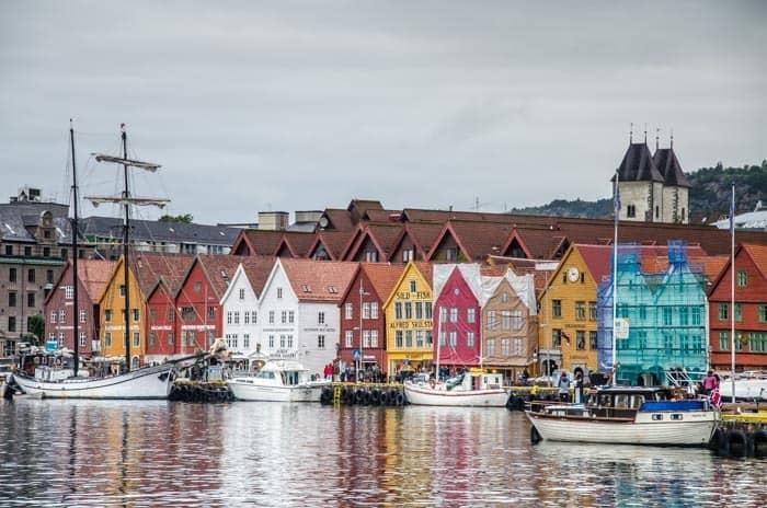 Malebné domečky Bryggen