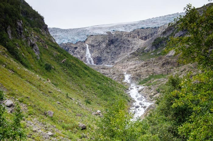 Nádherné údolí ledovce Buarbreen