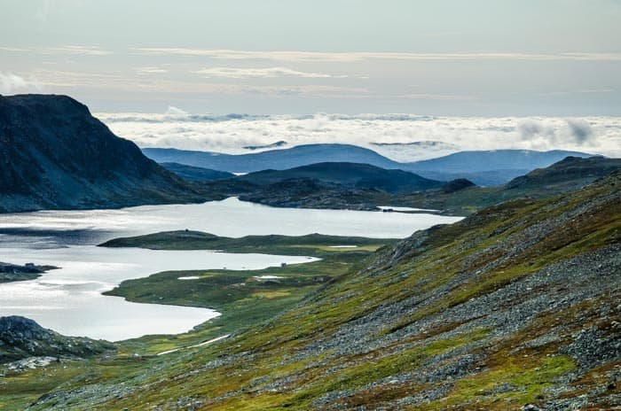 Výhled z kopce Gaustatoppen