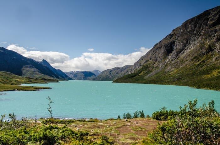 Úžasná barva jezera Gjende, Jižní Norsko