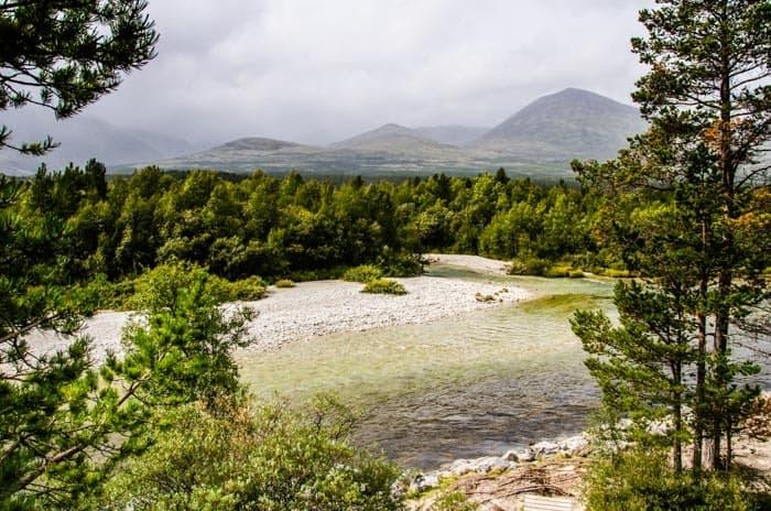 Pohled na národní park Rondane, jižní Norsko