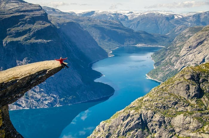 The photo on Trolltunga is simply epic! Southern Norway Road Trip