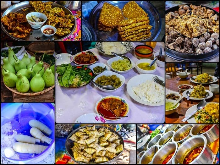 Section of Burmese cuisine
