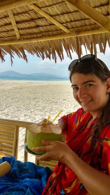 Tato pláž nabízí kromě pohody a bíleho písku i občerstvení.