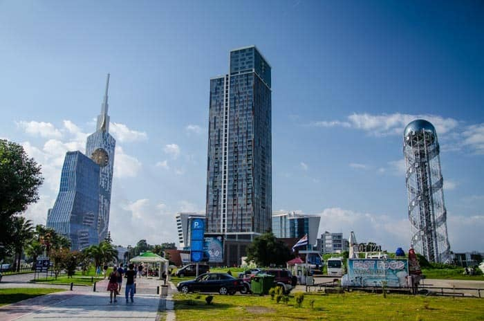 Modern architecture in Batumi, Georgia