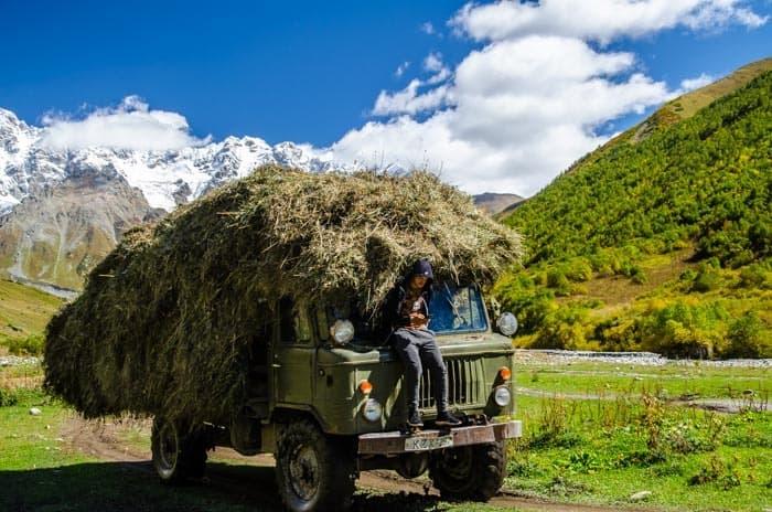 Způoby dopravy jsou v Gruzii občas zajimavé.