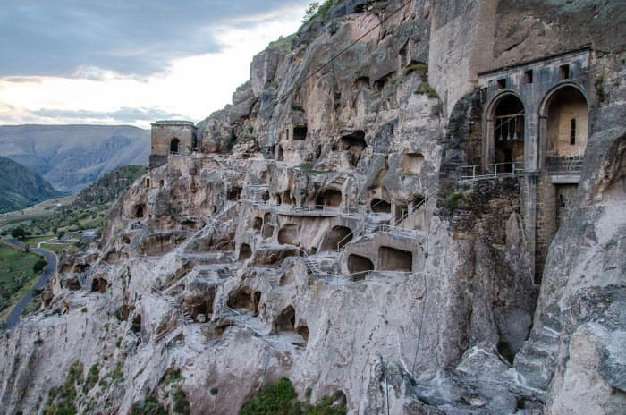 Countless caves and rocks in the Vardzia complex, The best things to do in Georgia