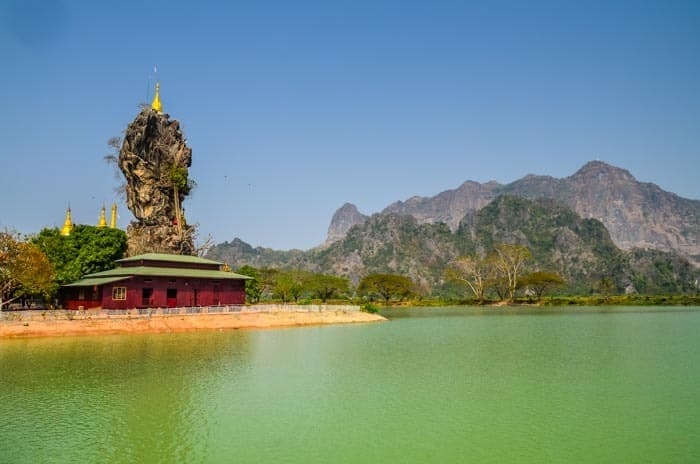 Kyauk Kalap pagoda in Hpa An, best Places to visit in Myanmar