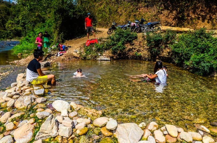 Locals at Hsipaw Hot Springs