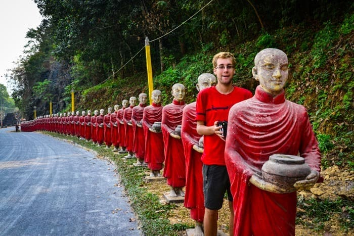Hundreds of monks...