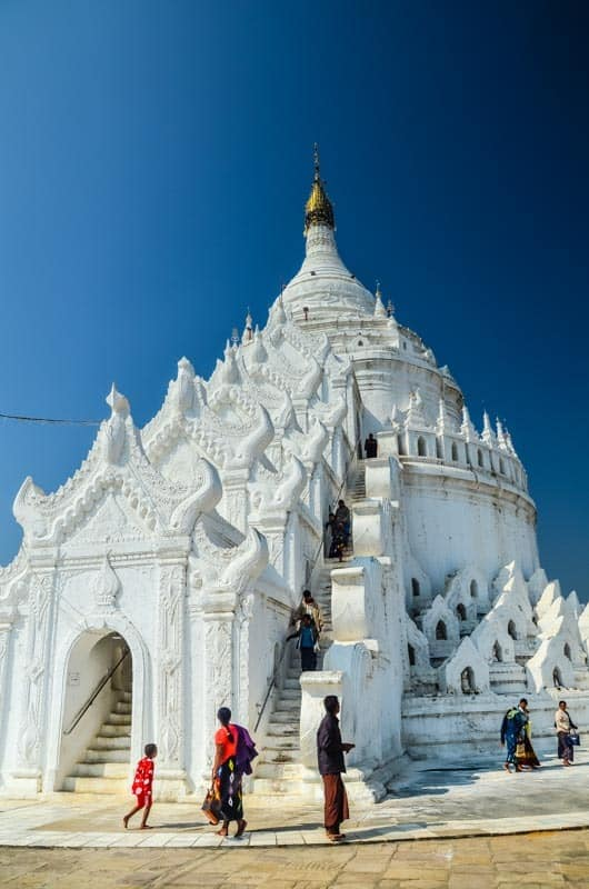 Beautiful white pagoda in Mingun, Myanmar