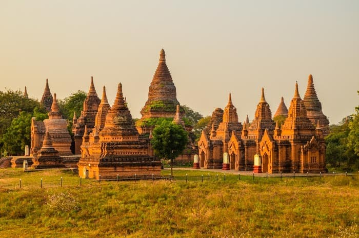 Only a few of the thousands of temples in Bagan.