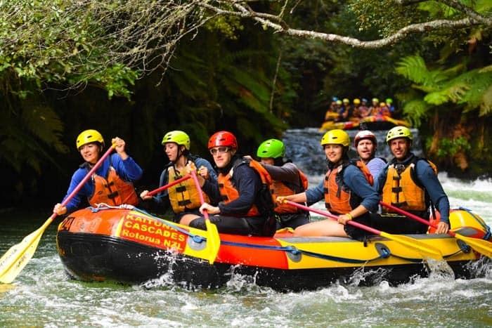 Rafting na řece Kaituna je prostě paráda!
