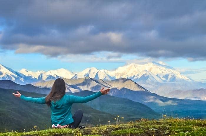 Výhled na Mt Denali - nejvyšší horu severní Ameriky