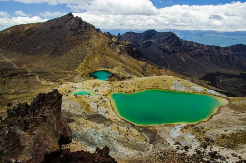 Your guide to Tongariro Alpine Crossing. Parking, best shuttle bus, the best time of year to hike, trek description, distance. What clothing and equipment do you need? All you need to know!