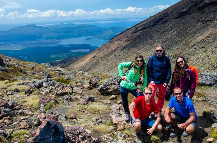 The second half of the Tongariro Alpine Crossing trek.
