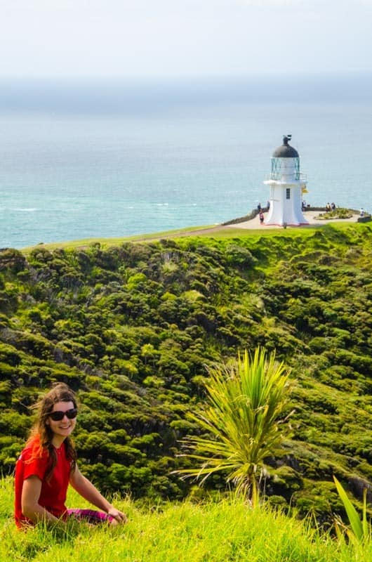 The picturesque lighthouse of Cape Reinga, Northland.