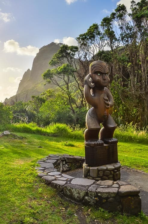 Statue along the way to Karekare beach, Northland, New Zealand.