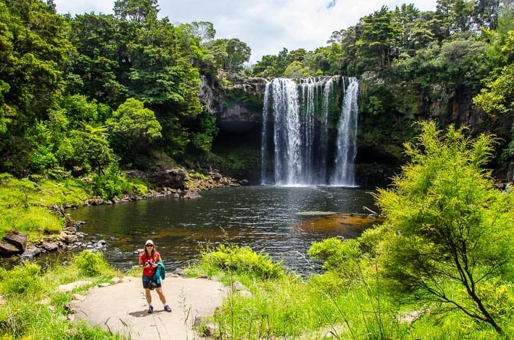 You can swim by the Rainbow Falls, Kerikeri.