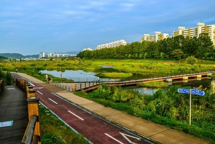 Nádherné cyklostezky v centru města Daejeon