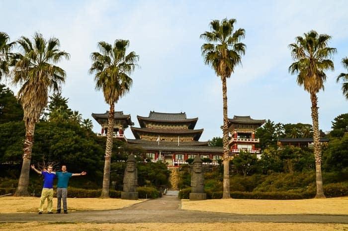 Chrám Yakcheonsa na ostrově Jeju