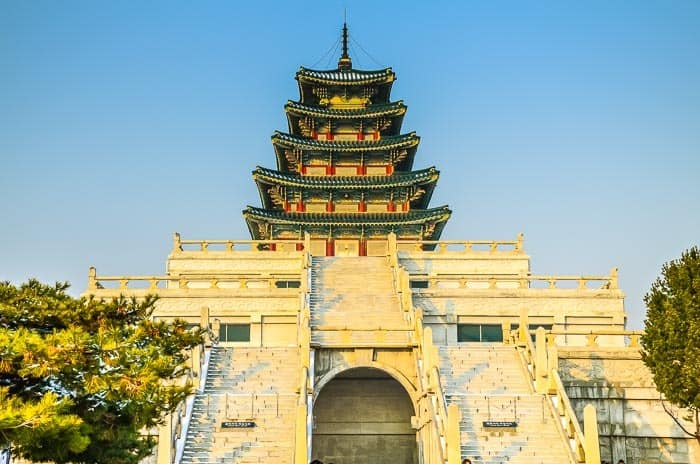 Palác Gyeongbokgung v Soulu, Jižní Korea