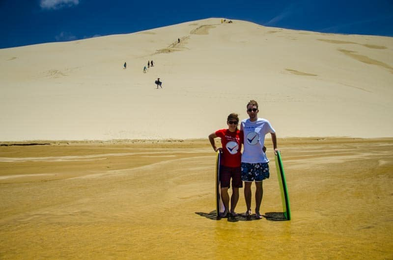 The best place for sandboarding in New Zealand. Northland
